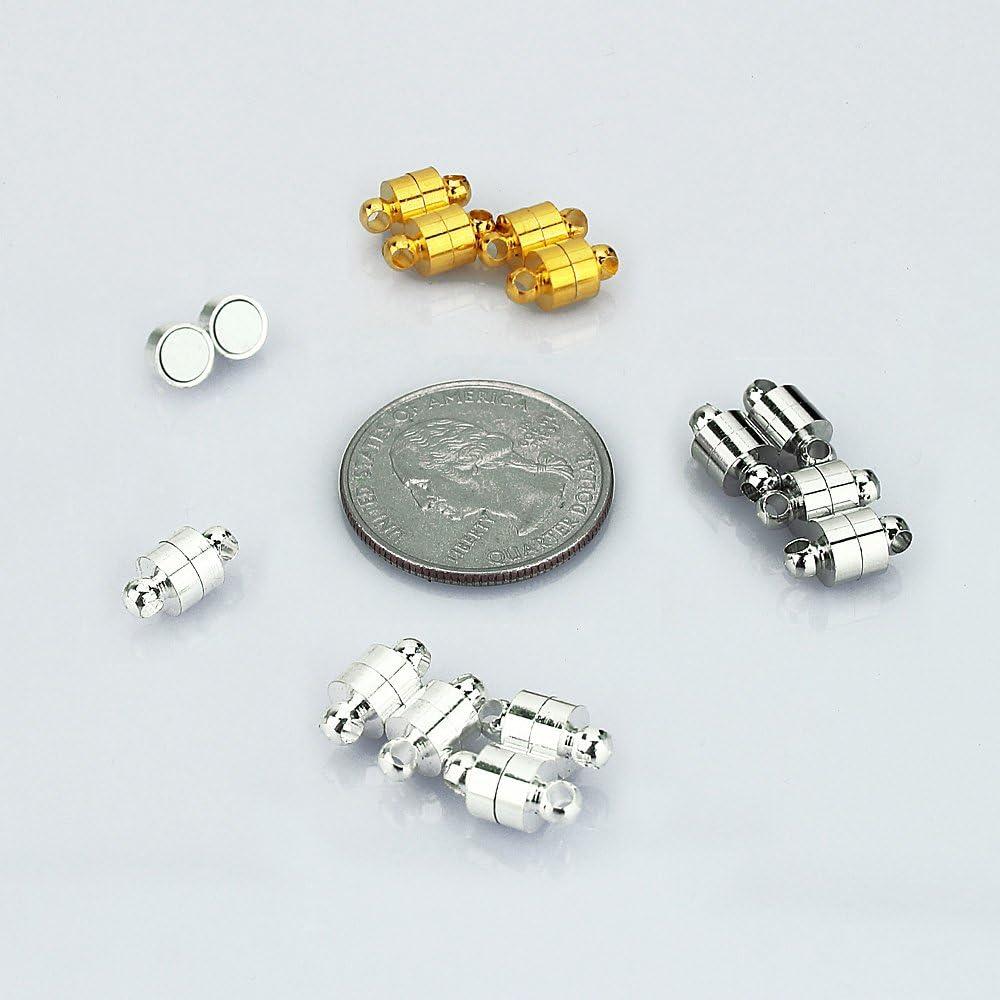 TM Lollibeads Perle /à strass de style Shamballa cristal 10 mm avec fermoir magn/étique pour collier et bracelet. Alliage Gold//Silver/_10mm