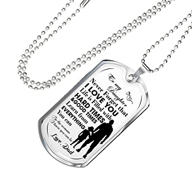 Amazon.com: Special my daughter quotes pendant necklace Dog ...