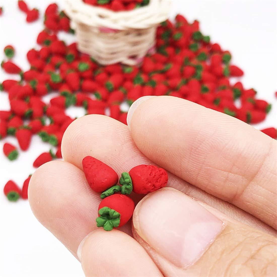 Fresa 50 Piezas Escala 1//12 Casa de mu/ñecas Juguetes en Miniatura de Frutas y Verduras Modelo Cocina Fruter/ía Accesorio Decoraci/ón Searchyou