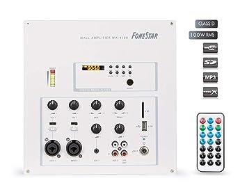 AMPLIFICADOR DE PARED FONESTAR WA-4100 2x50W-RMS USB/SD/MP3: Amazon.es: Electrónica