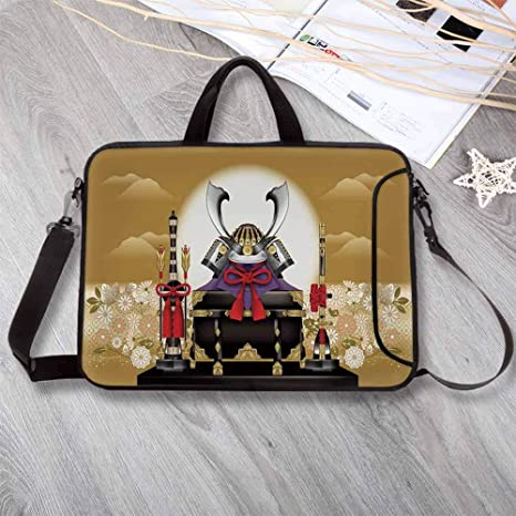 c9ddf057edcf Amazon.com: Japanese Stylish Neoprene Laptop Bag,Antique Ornamental ...