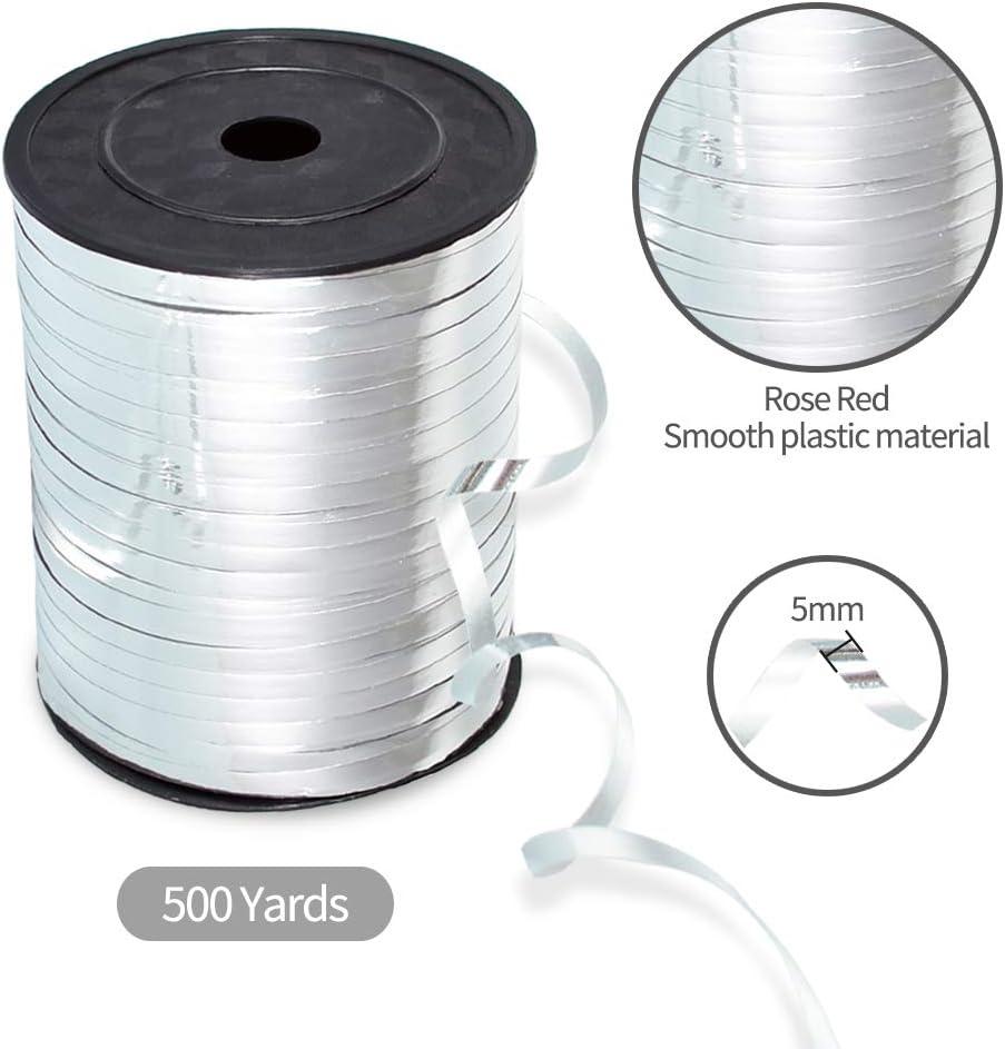 250 yardas//rollo naranja cinta de globo suave decoraci/ón de boda Molshine 500 yardas rollo de cuerda rizada para bricolaje lugar de vacaciones paquete de 2 unidades