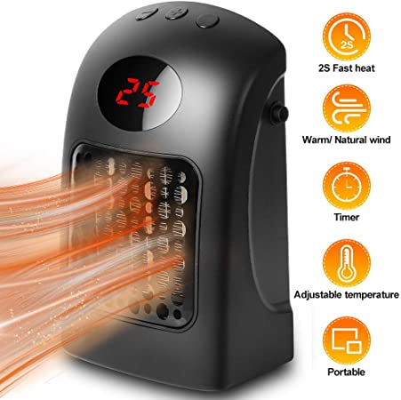 Mini Space Heater with Adjustable Timer