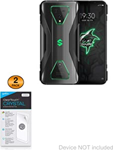 Xiaomi Black Shark 3 Pro Screen Protector, BoxWave [ClearTouch Crystal (2-Pack)] HD Film Skin - Shields from Scratches for Xiaomi Black Shark 3 Pro
