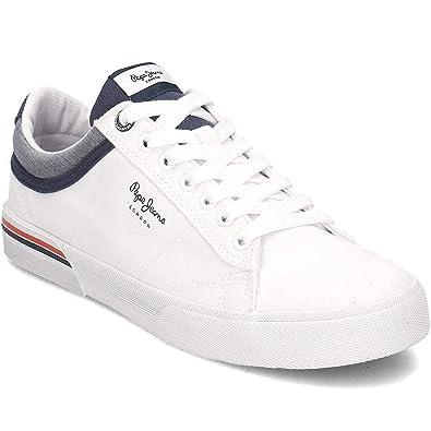 newest 81317 e0898 Pepe Jeans, North White PMS30530, weiße Turnschuhe für Männer, 40