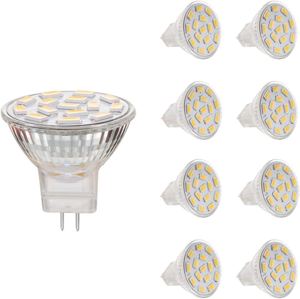 Jenyolon MR11 GU4 LED Lampen weiss 3W ACDC 12V, 6000K