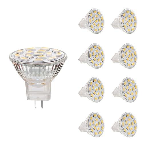 Ahevo 3.5W Bombillas LED MR11 GU4.0, equivalentes a lámparas halógenas de 25