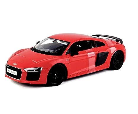 Amazon Com Maisto 1 18 Special Edition Audi R8 V10 Red Plus Black