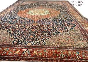 A Huge Classic Palace Size Antique 14 ft x 22 ft Persian Ferahan Sarouk Rug