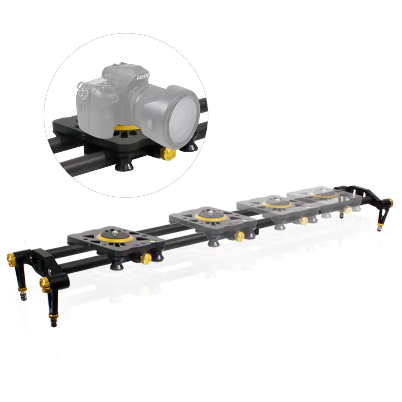 Lusana Studio 31インチ デジタル一眼レフカメラ スライダー ドリートラック ビデオスタビライザー カーボンファイバーレールシステム 高精度スムーズベアリング スライド標準マウント スピリットレベル フォトスタジオ TEMLNAPPH263   B07JQ53624