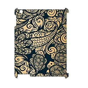 Gold Pattern 3D-Printed ZLB567111 DIY 3D Cover Case for Ipad 2,3,4