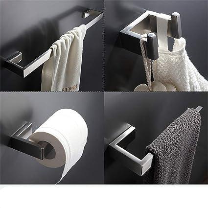 Bathroom Hardware Sets Nickel.Amazon Com Stainless Steel Brushed Nickel Wall Mount Bath Hardware