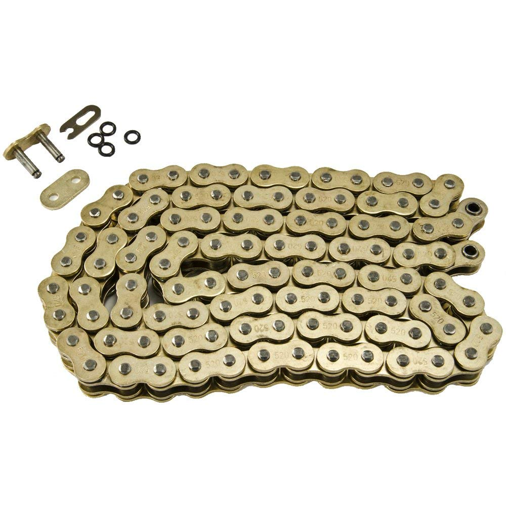 Max Motosports 520 Pitch 108 Links Gold O-Ring Chain for Kawasaki Ninja ZX6RR ZX600 ZX6R ZX636 2003-2004