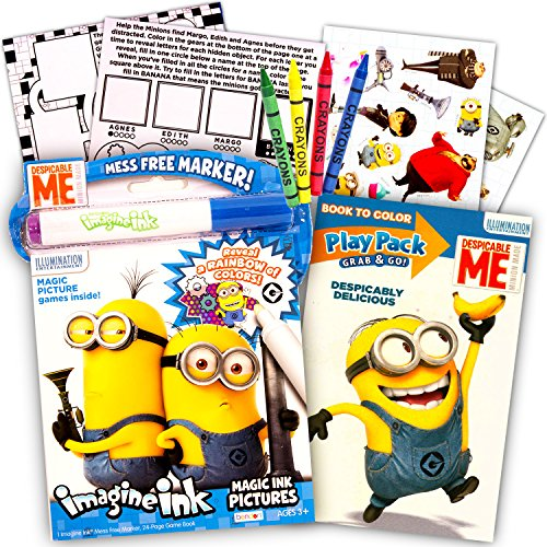 Despicable Me Minions Magic Ink Book and Play Set (Imagine Ink Book, Mess Free Marker and Play -