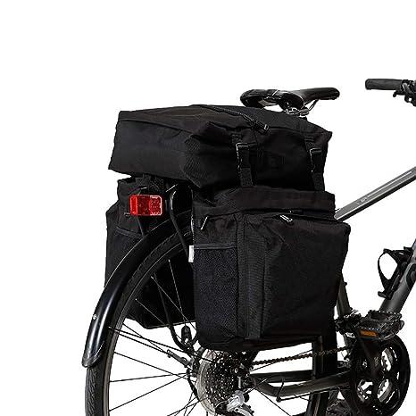 FAMLYJK Bolsa de Bicicleta Bolsa de Maletas de Rejilla Trasera de ...