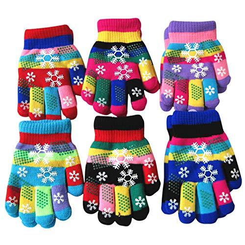Magic Childrens Gloves (Boys Girls Magic Stretch Gripper Gloves, Kids One Size Winter Warm Gloves Children XMAS Gift)