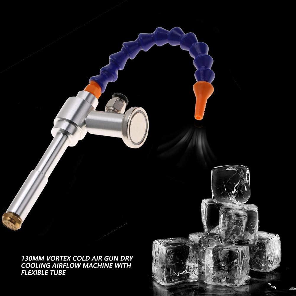 Akozon Kaltluftpistole 08 + Magnetfu/ß 130MM Vortex Kaltluftpistole Trockenk/ühlung Luftstrommaschine mit flexiblem Rohr