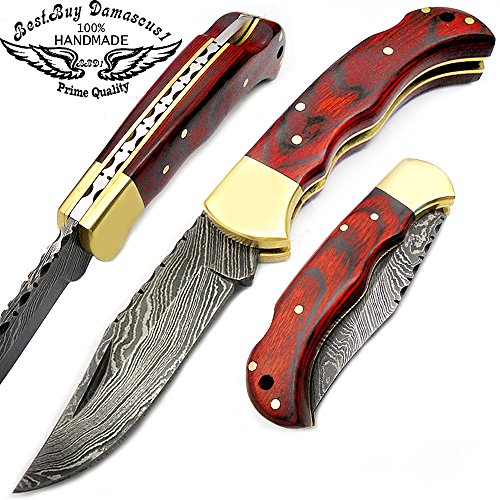 mahroon-dollar-sheet-wood-65-100-handmade-damascus-steel-folding-pocket-knife-100-prime-quality