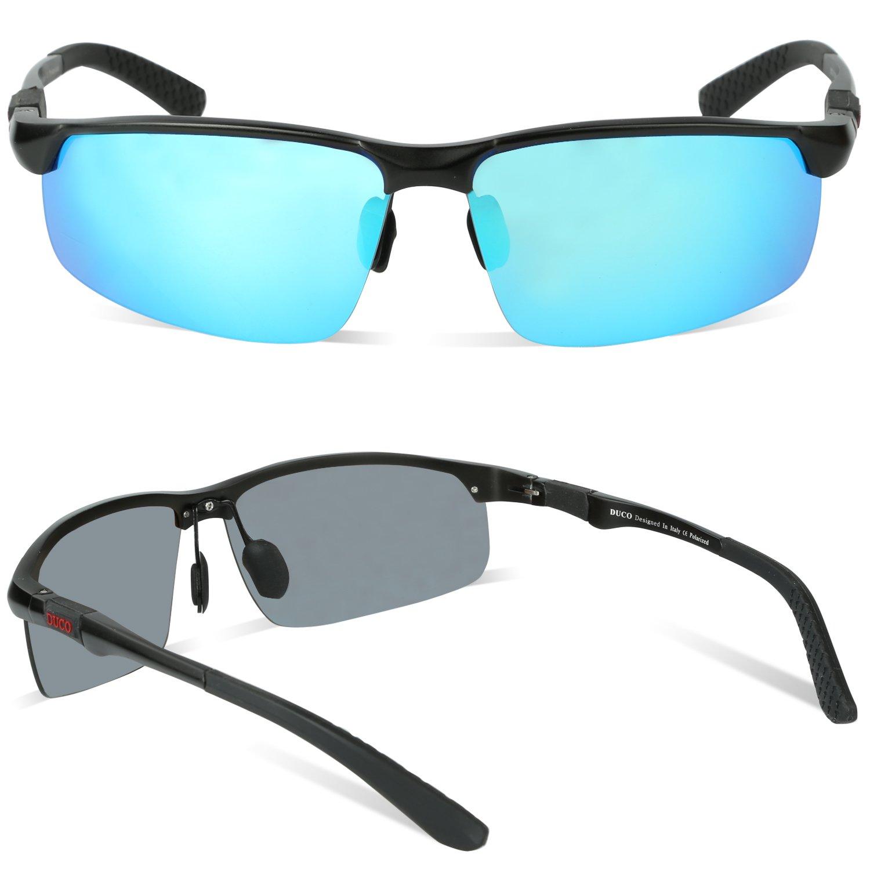 c4f66d9dd38 Duco Men s Hot Fashion Driving Sunglasses Polarized Glasses Sports Eyewear  Fishing Golf Goggles with Al-Mg Frame 8188  Amazon.co.uk  Clothing