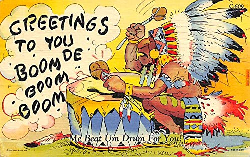 Indian Post Card Indian Comic Postcard 1951