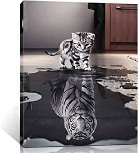 ShuaXin Believe in Yourself Subject 1 Panel Giclee Artwork Inspiration Canvas Painting Gift for Room Study Room Office Decoration (12X16inch)