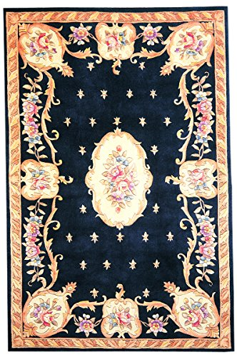 KAS Oriental Rugs Ruby Collection Fleur-De-Lis Aubusson Area Rug, 3'3