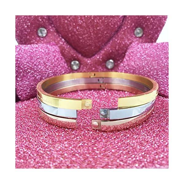 AURSTORE® Bracelet Jonc Fin en Acier Inoxydable 316L avec Message Phrases d'Inspiration Largeur 4 mm Plusieurs Messages…