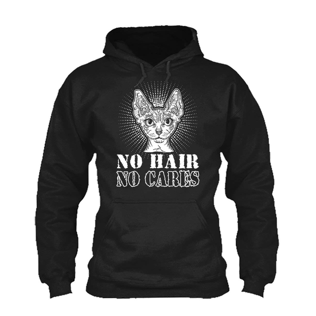 Shirt Hoodies Sphynx Cat No Hair No Cares Tee Shirt