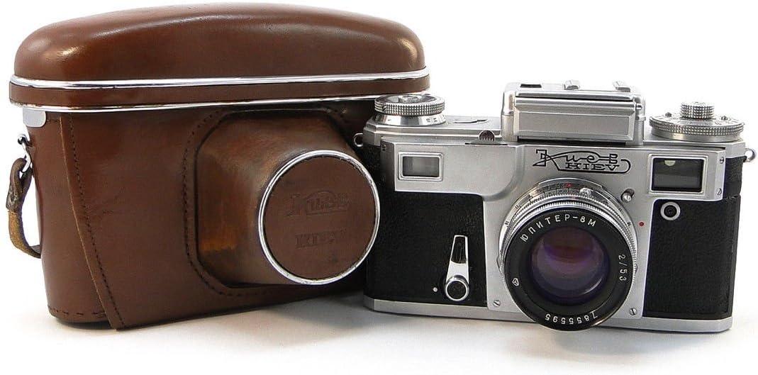 kiev-4Ruso URSS Contax RF telémetro cámara de 35mm Jupiter-8m 2/50Lente