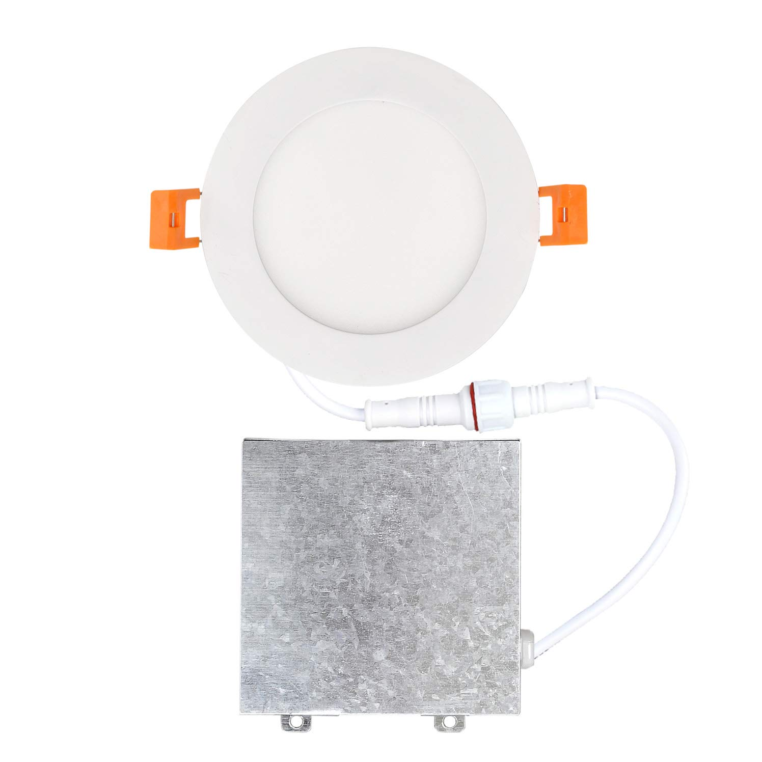 60 Watt Repl. IC Rated LED Recessed Low Profile Slim Round Panel Light with Junction Box No Can Needed OSTWIN 4 inch 12W Dimmable 12 Pack 3000K Warm Light 900 Lm ETL /& Energy Star Listed
