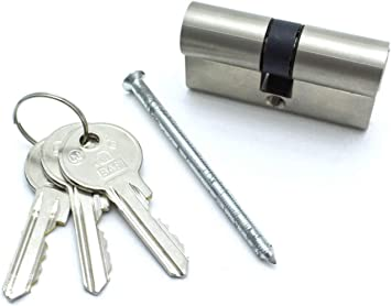 1 x Profilzylinder 60mm 30//30 Türschloss Doppel Tür Zylinder 3 Schlüssel