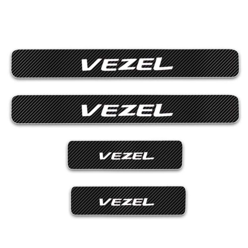 LUVCARPB Car Threshold Pedal Sticker Accessories,Fit for Honda Vezel