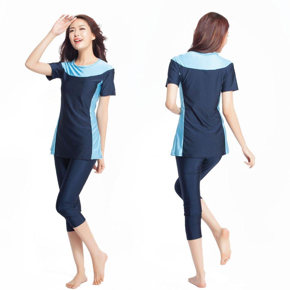 Mr Lin123 Donne Plus Size Muslim Swimwear Spiaggia Costume da Bagno Muslimah Islamico Swimsuit Swim Surf Burqini