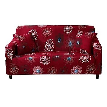 HOTNIU Cepillado Fundas de Sofá Impreso Reversible Funda para Sofá 1 Pieza Elástica Sofá Pantalla para Muebles (Una Plaza, Patron #FFNHH): Amazon.es: Hogar
