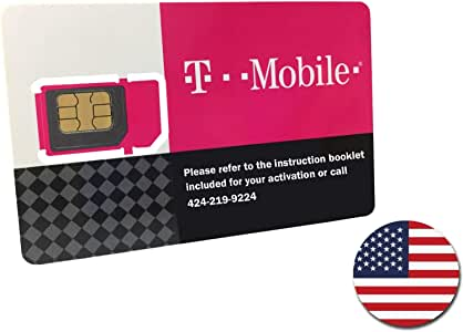 T-Mobile Prepaid SIM Card Unlimited Talk, Text, and Data in USA for 20 Days