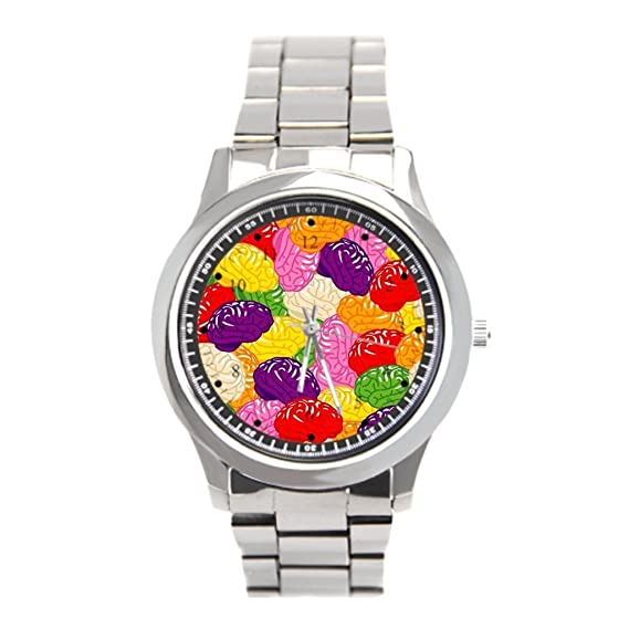 Barato Relojes de acero inoxidable ideas cerebro para hombre muñeca relojes Marcas: Amazon.es: Relojes