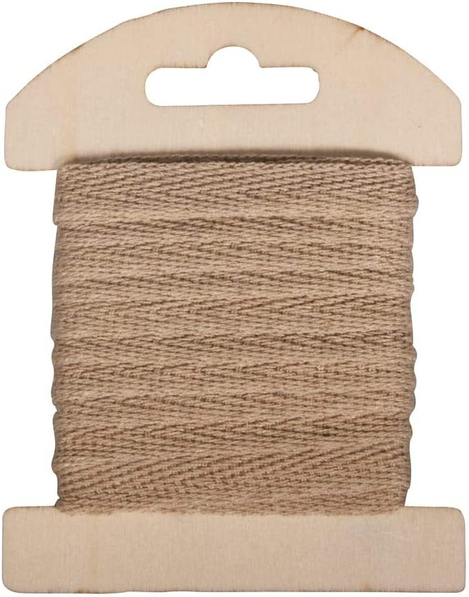 Rayher 55725505 Cinta de algodón, 1 cm, SB de Tarjeta 3 m, Natural: Amazon.es: Hogar