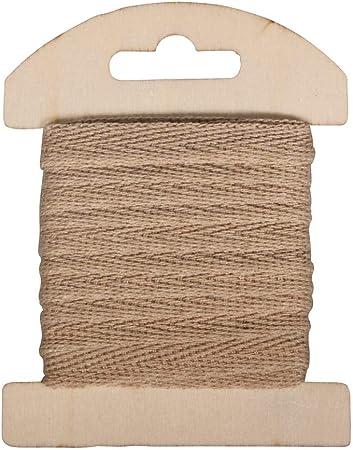 Rayher 55725505 Cinta de algodón, 1 cm, SB de Tarjeta 3 m, Natural ...