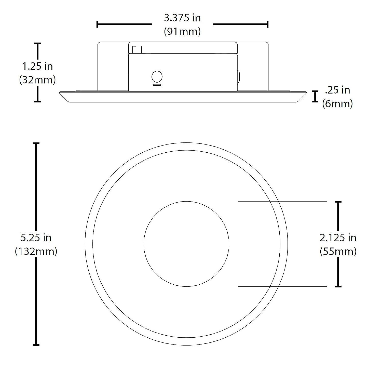 NICOR Lighting DLF-10-120-2K-WH Sure Fit 5.25 Round Ultra Slim 2700K LED Junction Box Retrofit Downlight Kit, White