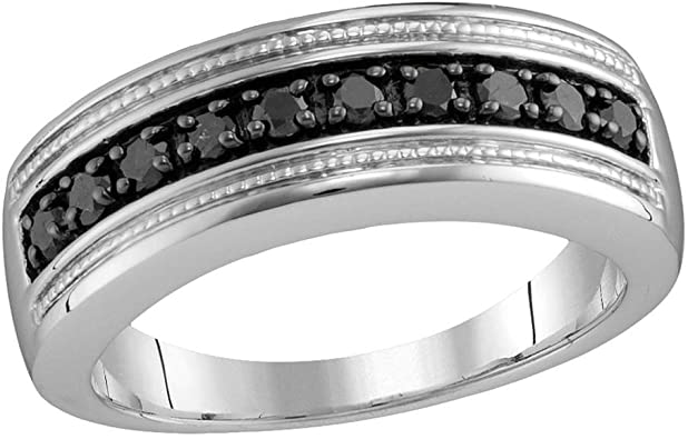 10k Yellow Gold Mens Five Stone Diamond Wedding Band Anniversary Ring Round Illusion Set 1//10 ctw