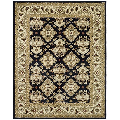 Safavieh Heritage Collection HG817A Handcrafted Traditional Oriental Black and Ivory Wool Area Rug (8'3