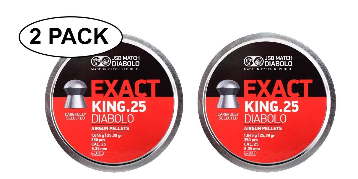 JSB Match Diabolo Exact King .25 Cal Domed 2 Pack 25.39 Grains 350ct