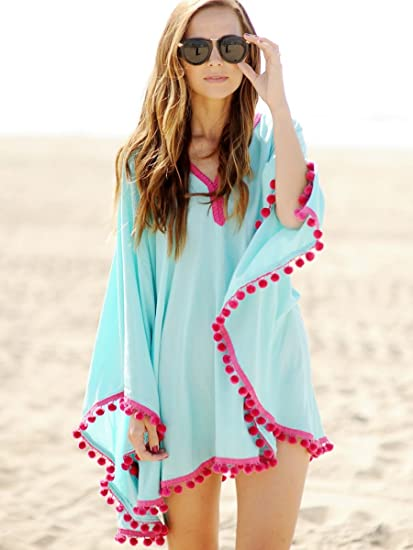c6e1527c8a Buy New and Imported Buildtough Cotton Tassel Cover Up Kaftan Beach Dress  For Women Online at Low Prices in India - Amazon.in