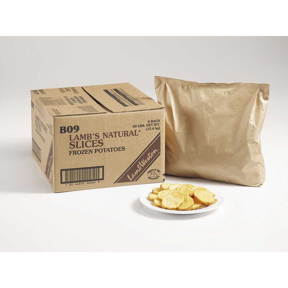 Lamb Weston Natural Oval Slice Potato Fry, 5 Pound -- 6 per case.