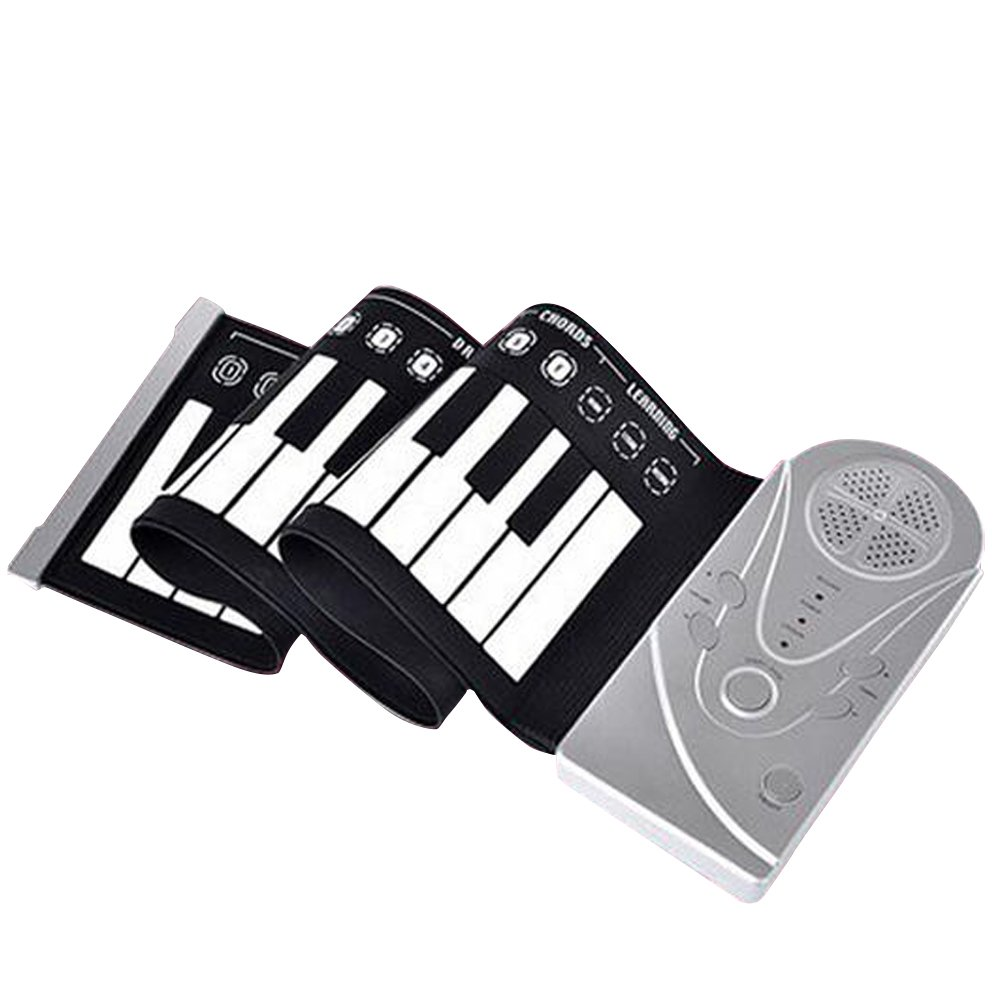E Support™ Portable Electronic Piano Keyboard with Full 49 Soft Responsive Keys Silicone Rubber Keyboard Soft Roll Up Piano by E Support (Image #2)