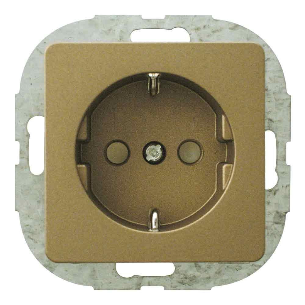 REV Ritter EverLuxe 0548008551 Child Protection Outlet with Bronze
