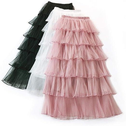 Pettneeds-CLOTH-CLOTH Falda de Malla con gradas para Mujer Color ...
