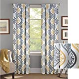 Better Homes and Gardens Damask Ogee Curtain Panel, 52″ x 63″, Gray/Gold Review