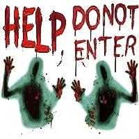 Wishstar Halloween bloedige stickers, Halloween sticker help, Halloween horror decoratie realistische sticker geest…