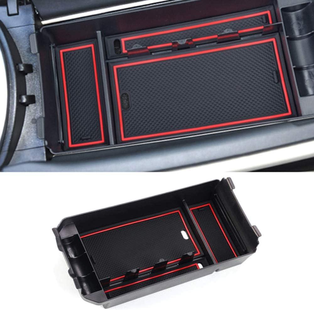 Muchkey Car Central Console Armrest Storage Box for GLC Class C ABS Silicone Non-slip Bottom Car Accessory